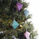 DIY Glittery Geometric Paper Ornaments