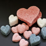 DIY Valentine's Day Heart Bath Bombs