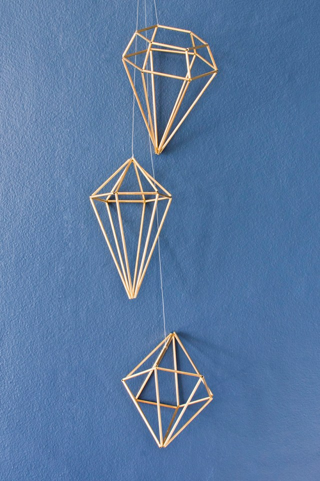 How to make DIY geometric gems