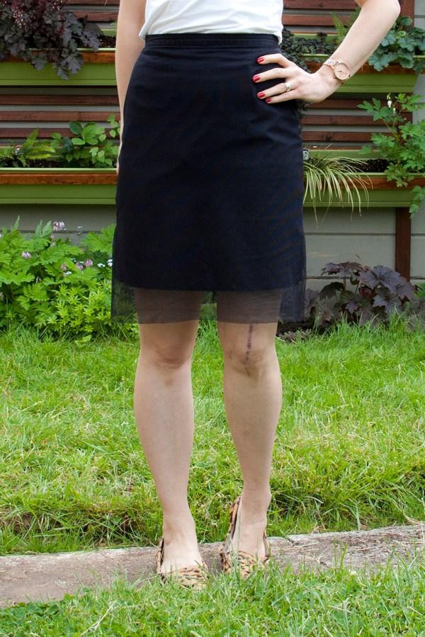DIY Mesh Skirt Modification