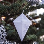 DIY Marble Geometric Ornaments