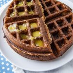 Gingerbread Overnight Waffles with Lemon Curd