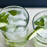 Cucumber Mint Gin Fizz Cocktail