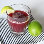Ginger Lime Pomegranate Cocktail