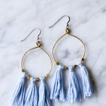 Brass Bead & Tassel Earrings