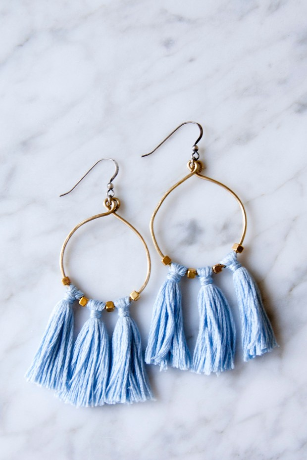 Brass Bead Tassel Earrings - DIY in PDX