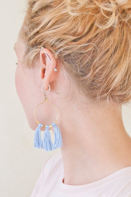 Learn how to make these beaded tassel earrings