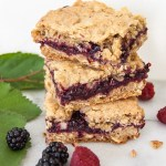 Cardamom Berry Oatmeal Crumble Bars