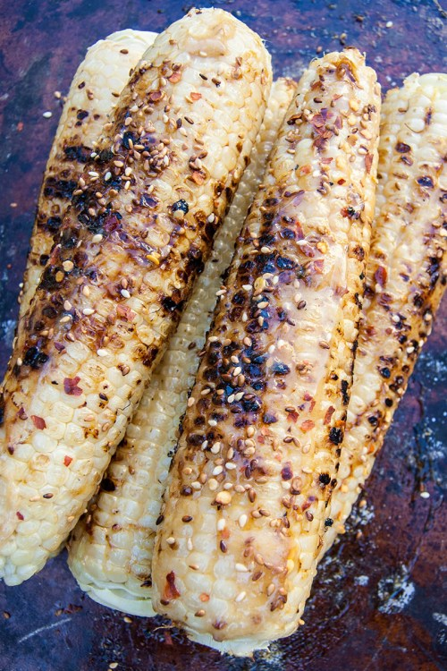 Caramelized Honey Miso Butter Grilled Corn