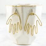 DIY Brass Hand Earrings