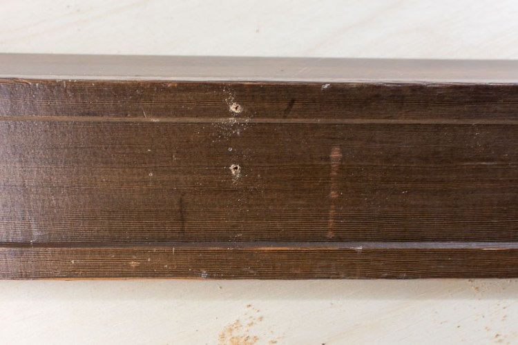 Make an easy DIY narrow shelf ledge from two pieces of wood and some screws