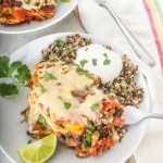 Black Bean, Squash, and Spinach Enchilada Casserole