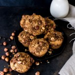 Hazelnut espresso coffee cake muffins. So good you'd never guess that they're vegan!