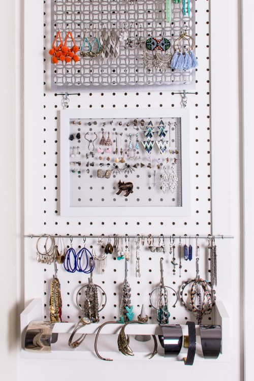 how to store stud earrings wall jewelry storage 7244