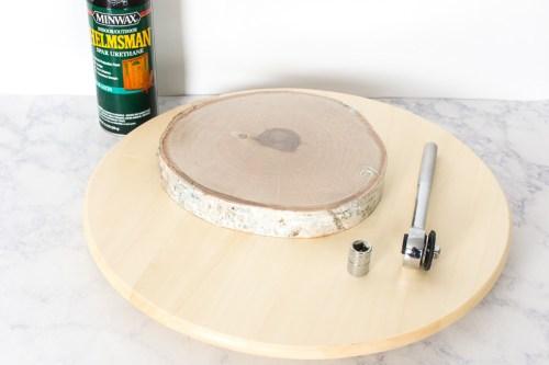 Wood Slice Lazy Susan Ikea Hack