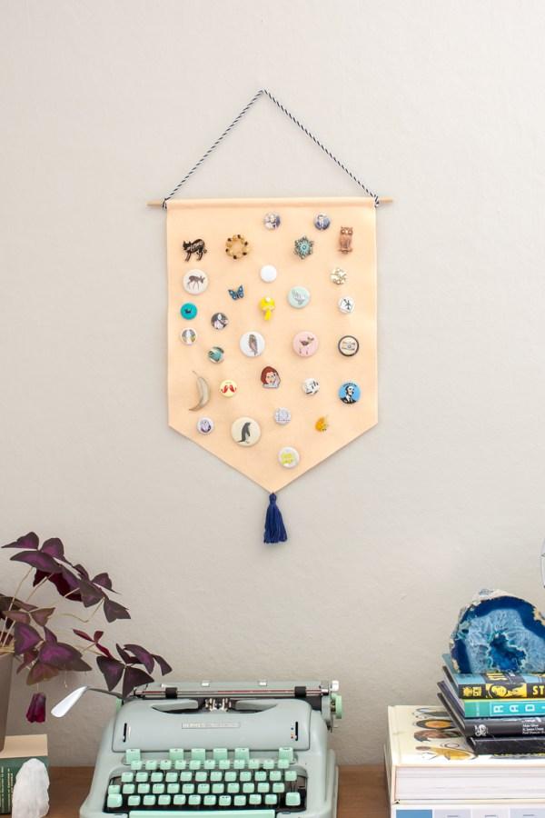 DIY Pin Storage Banner