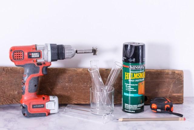 Make a DIY test tube vase plant propagation station.