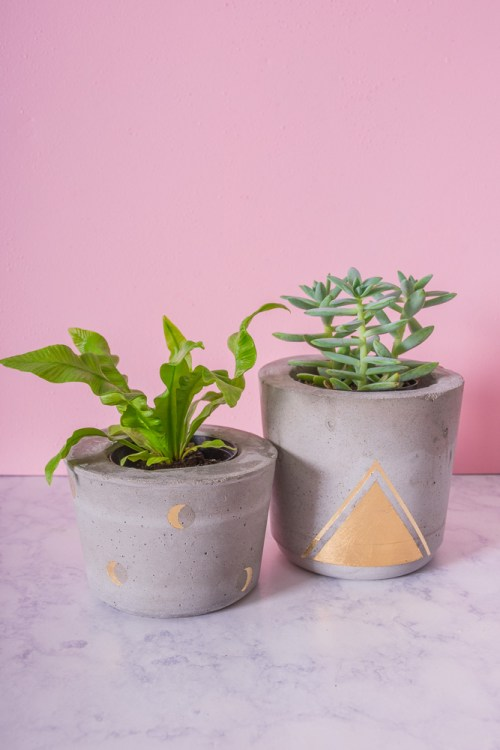 wedding ideas homemade new concrete and gold plant pot designs diy in pdx 27914