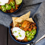 Farro Sweet Potato Bean Chili