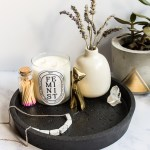 Make a Minimalist Round Black Concrete Tray