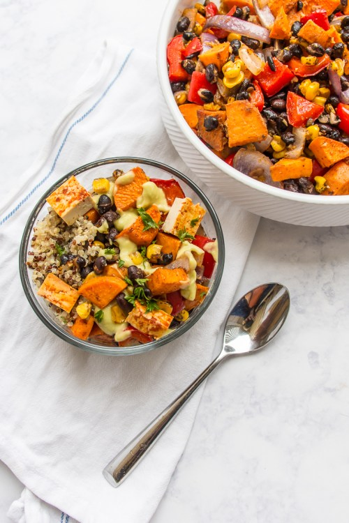 This sheet pan meal of sweet potato and black bean hash can be dinner on its own, but you can also use it to make a variety of other meals.