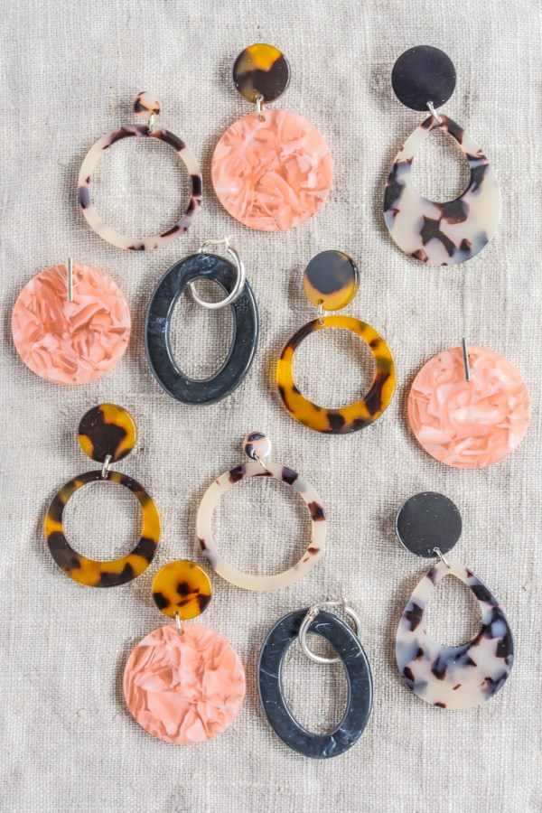 DIY Tortoiseshell Statement Earrings