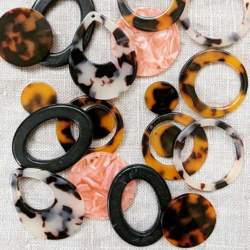 Acrylic tortoise shell earring findings