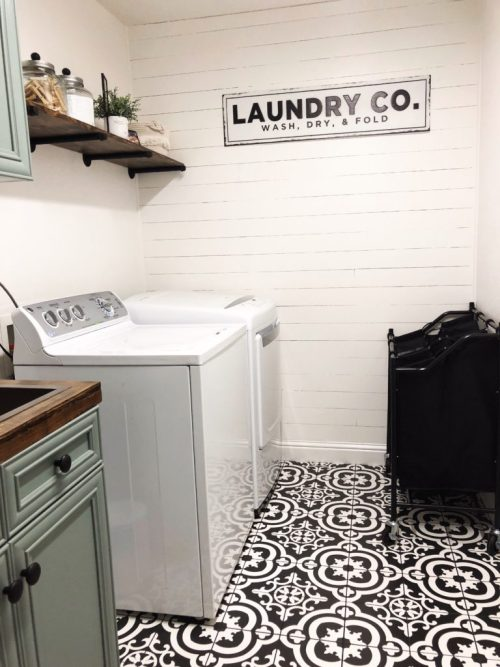 One Room Challenge laundry room by Organized Squirrel