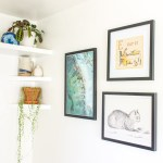 How I Put Together An Inexpensive Mini Gallery Wall