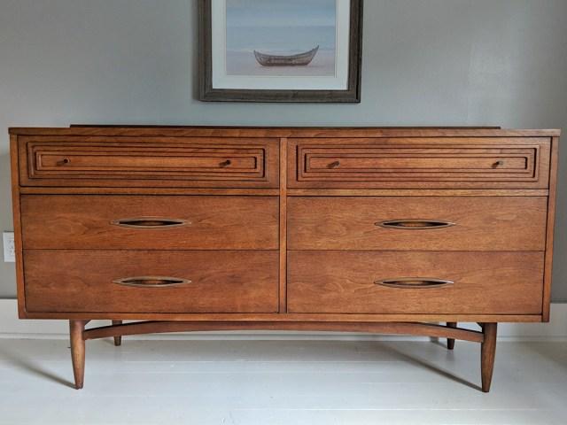 Mid-century modern dresser after