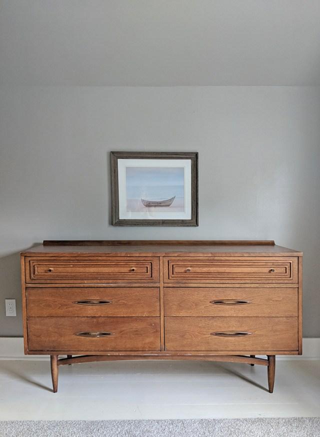 Mid-century modern dresser before
