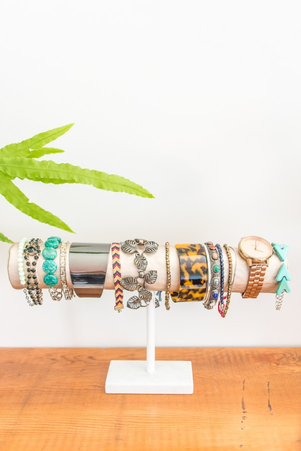 Store Your Jewelry on a DIY Bracelet Storage Display Bar