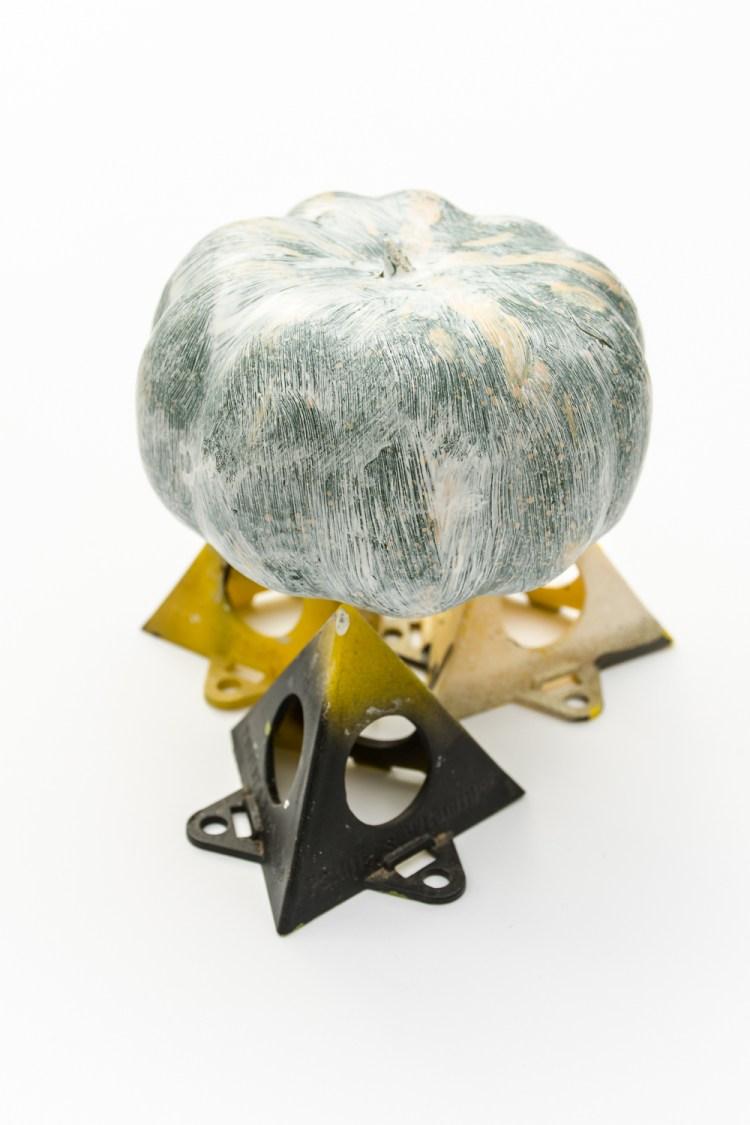 Painting fake pumpkins