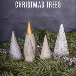 How to Make Concrete Mini Christmas Trees