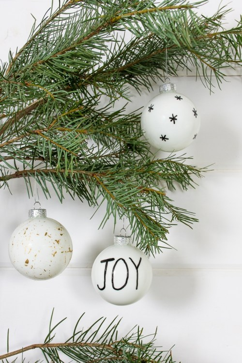 DIY, Scandinavian-inspired Christmas ornaments.