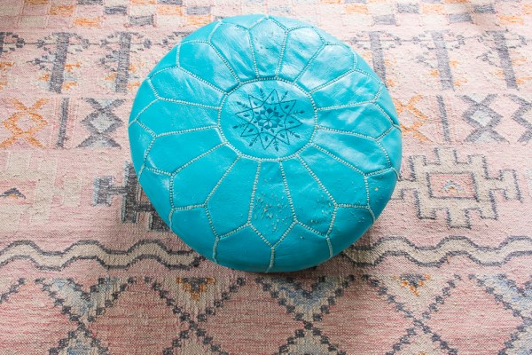 Options for Re-Covering a Leather Pouf