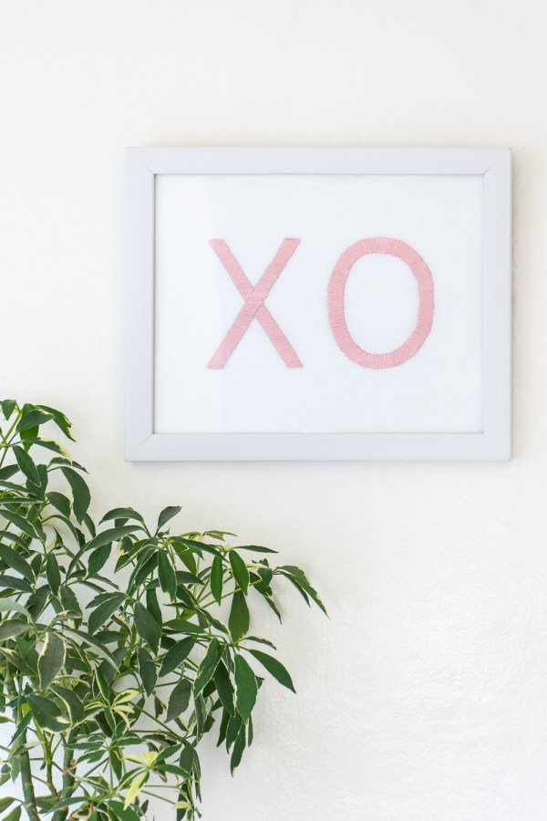 DIY Valentine's Day Gift: XO Embroidery