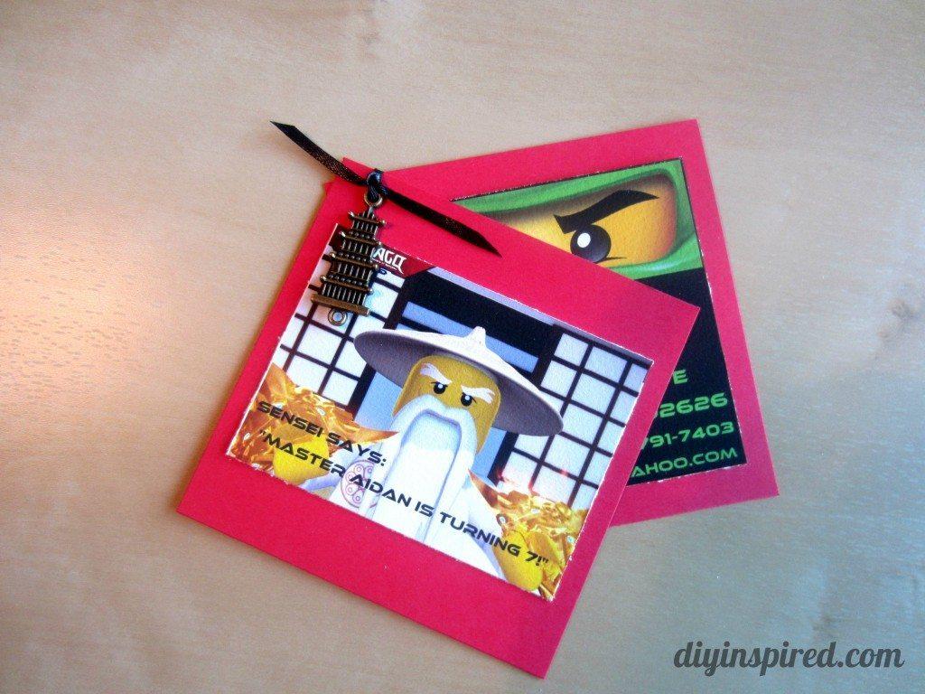 diy ninjago birthday invitations diy