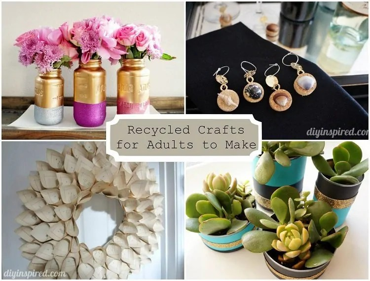 24 cheap recycled crafts