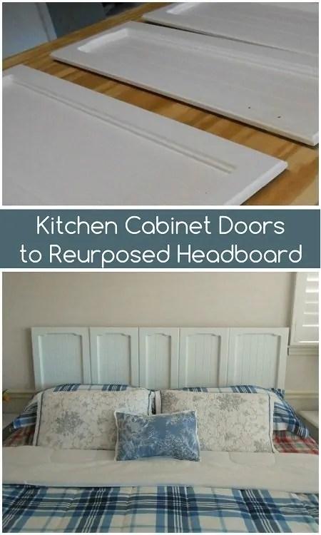 Upcycled Kitchen Doors to Repurposed Headboard  DIY Inspired