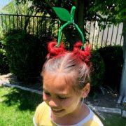 crazy hair day- cherries - diy