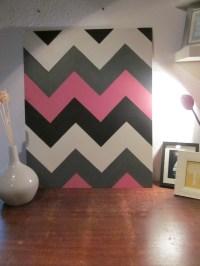 Four Colored chevron wall art | diyinteriordesigns