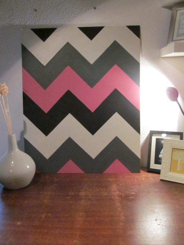 Four Colored Chevron Wall Art Diyinteriordesign