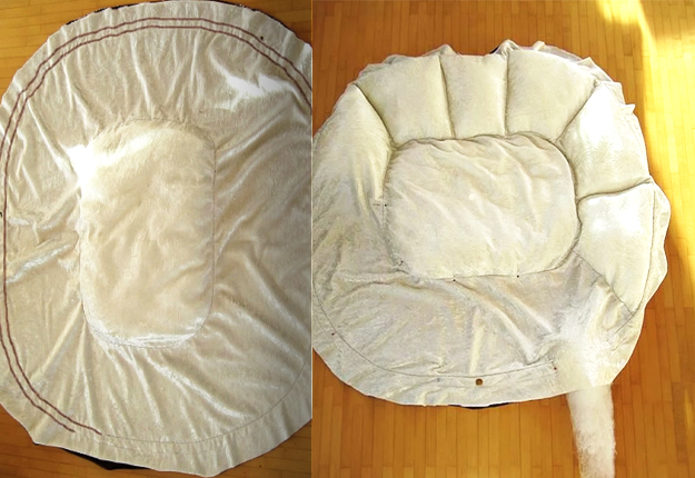 Most Awesome DIY Pet Bed Ever Its Fluffy