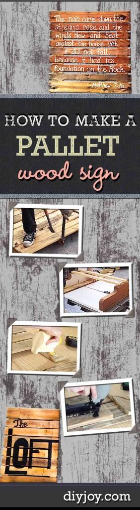 DIY Pallet Wood Sign DIY Joy