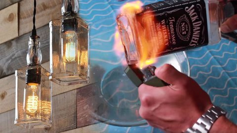Upcycle Old Liquor Bottles Into This Incredible Diy Lighting Project Joy Projects And Crafts