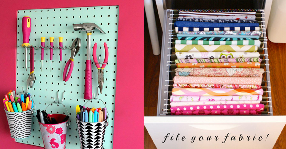50 Clever Craft Room Organization Ideas