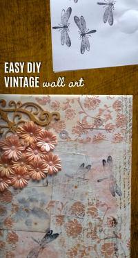 Vintage Wall Art Made Easy - DIY Mixed Media Canvas