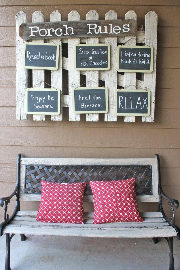 wooden slat chairs chair massage albuquerque 43 diy patio and porch decor ideas - joy