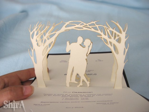 Diy Wedding Invitiations Pop Up Invitation Templates Free Printables And Wording